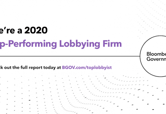 TRG Named a Top-Performing Lobbying Firm by Bloomberg